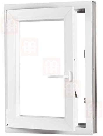 Dreh-Kipp-Fenster links | wei/ß Kunststofffenster 1000x1200 mm 100x120 cm