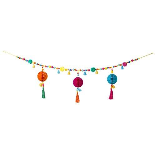 Cheap  Festive Colorful Party Boho Pom Pom Garland PK1