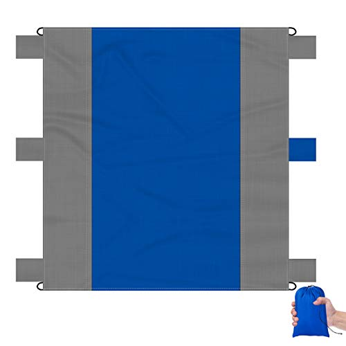 Sand Proof Beach Blanket Huge Ground Cover 9' x 10' for 7 Adults Compact Outdoor Sandless Beach Mat Made from Strong Parachute Nylon Includes Built in Sand Anchors & Zippered Valuables Pocket (Set Fire To The Rain Sheet Music)