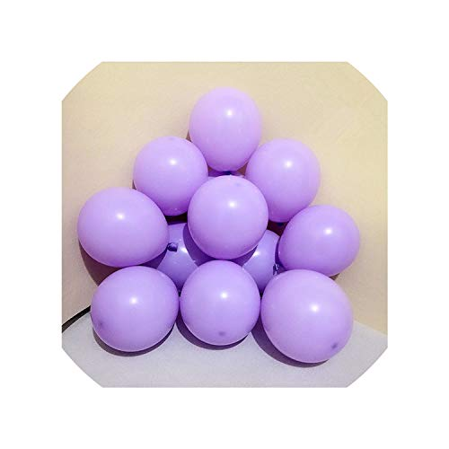 10Pcs 12Inch 5Inch Macaron Black Air Balls Happy Birthday Helium Balloon Decoration Wedding Festival Balon Party Supplies,Macaron D11 Purple,2.2G 10Inch Balloon