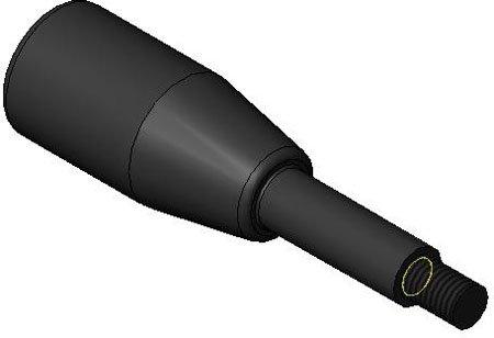 M8 x 1.25 thd. 3.15 Lg. Handle Gear Lever 1 Each