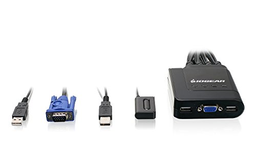 Iogear 4 Port Usb Vga Cable Kvm Switch With Cables And