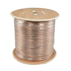 InstallerParts 16AWG 2-Conductor Polarized Copper Speaker Wire (Clear, 1000 Feet) by InstallerParts