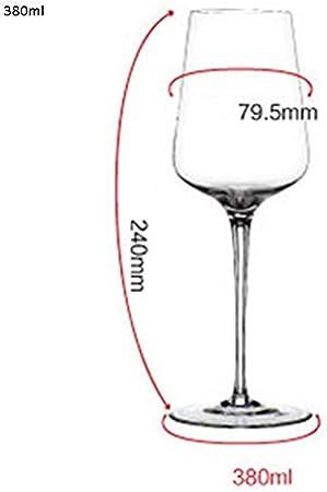 YUN&DSC Vino Tinto Vasos de Cristal Copas de Vino del cubilete sin Plomo (Color : Clear, Size : Champagne Glasses-280ml)