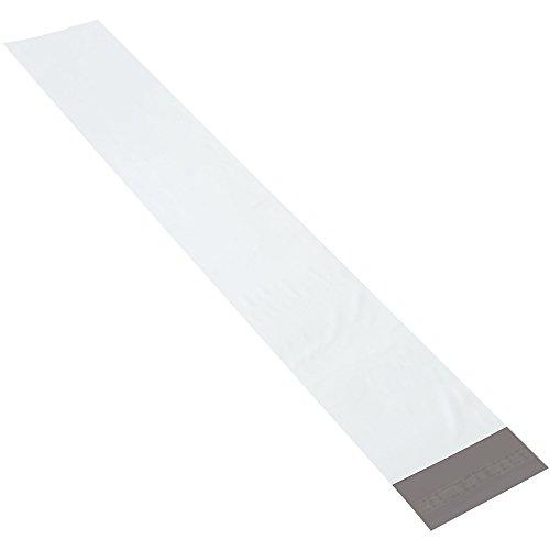 Aviditi LPM639 Polyethylene Mailer, 6'' Length x 6'' Width, 2.5 mil Thick, Long, White (Case of 100) by Aviditi