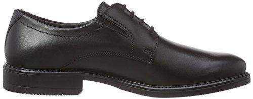 Robbie Men Zapatos Cuero con Negro 51 Hombre Noir de Schwarz Fretz Cordones x5F16qxw