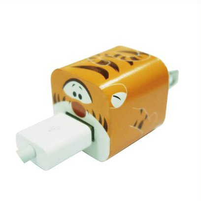 Disney Apple iPhone 5W Power Adapter Skin Sticker Decoration Wrap -Sticker Only Not Include USB (Tigger)