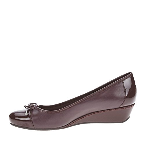 Easy Spirit - Sandalias de vestir para mujer Dark Red Multi Leather