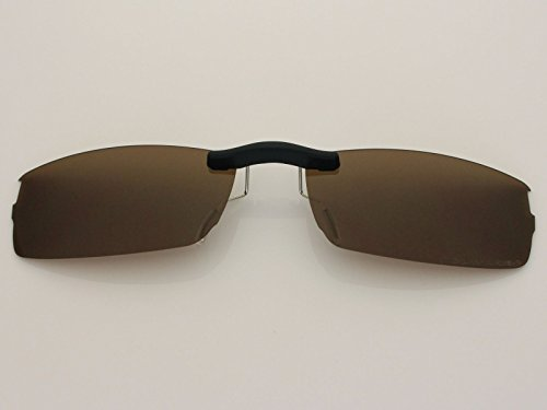 Custom Fit Polarized CLIP-ON Sunglasses For Oakley Halfshock OX3119 55X19 Brown by COODY (Image #1)