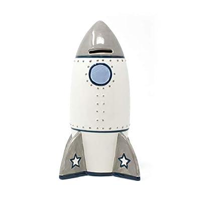 Child to Cherish Roger Rocket Piggy Bank for Boys: Toys & Games