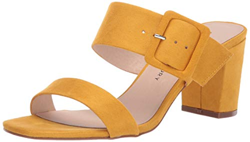 Heel Block Detail - Chinese Laundry Women's Yippy Heeled Sandal Sunflower Suede 6 M US