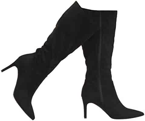 MVE Shoes Womens Forever Fashion Comfy Vegan Suede Block Heel Side Zipper Thigh High Over The Knee Boots