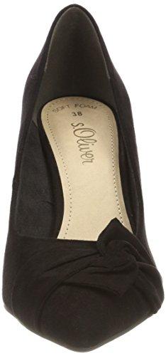 S black Donna Con oliver 22401 Scarpe Tacco Nero rxrqaTBw