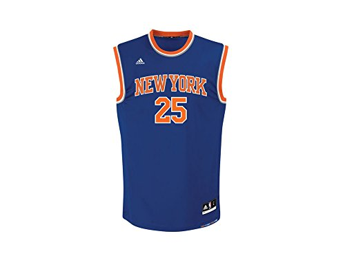 Adidas New York Knicks Ökade Med 25 Mens Nba-basket Jersey Vest Blå Cb9995