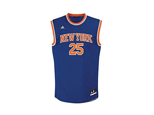 Adidas New York Knicks Steeg 25 Mannen Nba Basketbal Jersey Vest Blauw Cb9995