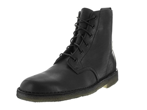 CLARKS Mens Desert Mali Black Leather Boot - 13