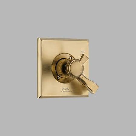 Champagne Bronze T17051-CZ Delta Faucet Dryden 17 Series Dual-Function Shower Handle Valve Trim Kit Valve Not Included