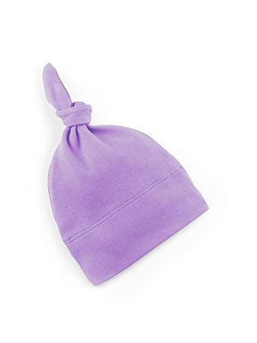 Colored Organics Baby Organic Cotton Knotted Hat - Infant Knit Cap - Petunia - 3-6 Months