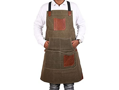 One Size Fits Utility Apron   Adjustable Cross-Back
