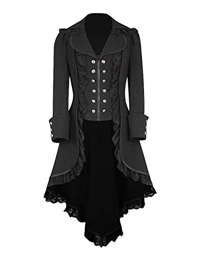 obtai Women's Gothic Tailcoat Steampunk Jacket Tuxedo Suit Coat Victorian Costume -
