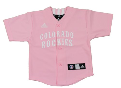 - adidas MLB Colorado Rockies Pink Toddlers Jersey Toddler (2T)