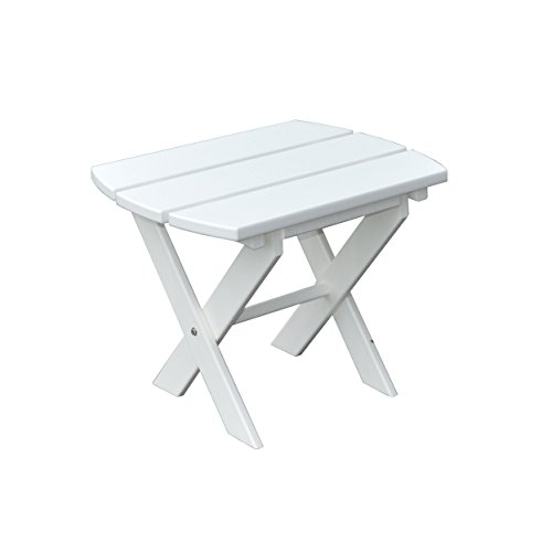 POLY Furniture Oval End Table - Amish Made USA - Bright White