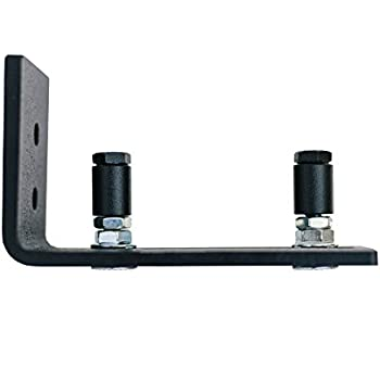 Exceptional Adjustable Channel Wall Mount Floor Guide Roller For Barn Door Hardware,  Powder Coated Black