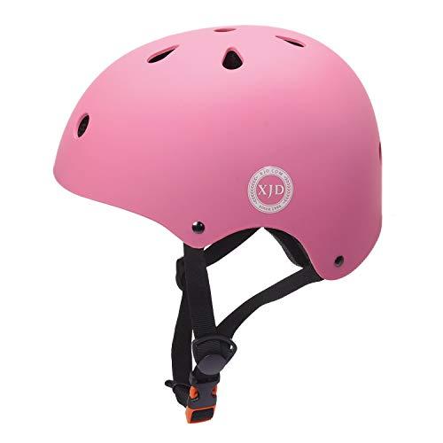XJD Kids Cycling Helmet, Impact Resistance Ventilation for Multi-Sports, Roller Bicycle BMX Bike Skateboard Sport Helmet (Pink)
