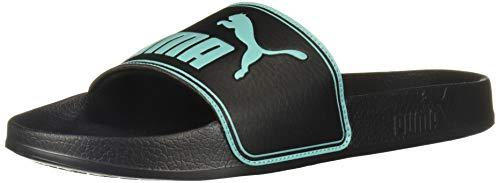 PUMA Leadcat Slide Sandal Black-Blue Turquoise, 15 M US