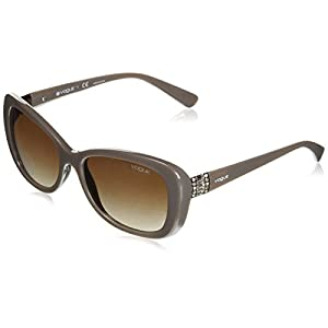 Vogue Women's Plastic Woman Oval Sunglasses, Opal Mud, 54 mm