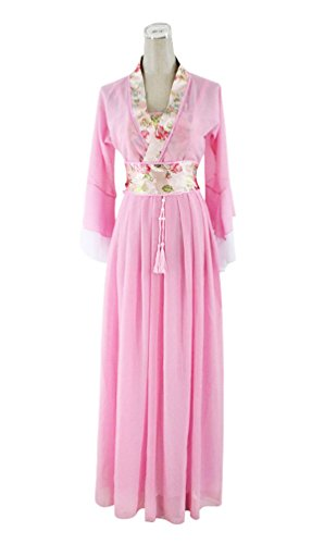 Han Chinese Costume Show (springcos Women Han Chinese Costume Princess Ancient Dress Cosplay Pink)
