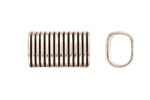 Vertical Stripes Licorice Charms Fits 10x8mm licorice Leather - Antique Silver Plated 4pcs