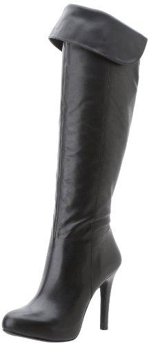 Jessica Simpson Women's Js-Audrey, Black, 6 M US (Leather Platforms Jessica)