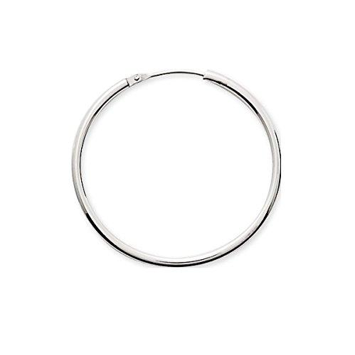 AGAPIA - Anneaux - Boucles d'Oreilles - Créoles - Or blanc - 18 carats - Diamètre 30 mm - Epaisseur 1,60 mm
