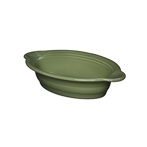 Fiesta Ceramic Oval Individual Casserole Dish 17 oz. in (Sage)