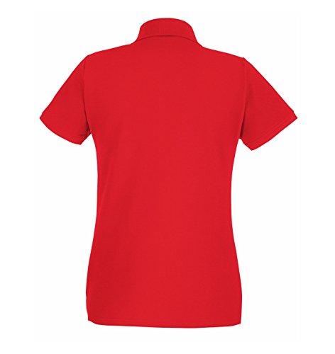 en rojo Polo de alta 2store24 forma mujer de para calidad qzppgxUY4