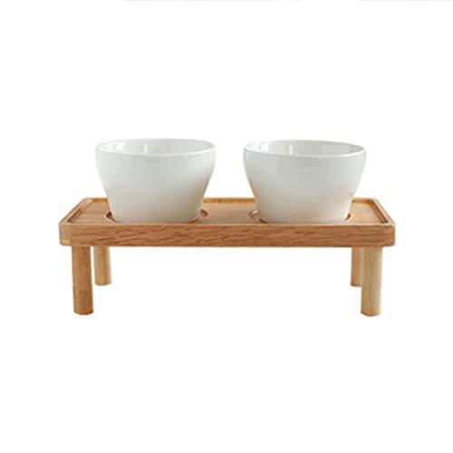 ZHAO YING Oak Bench White Porcelain Snack Bowl Suit Partition Dried Fruit Bowl Snack Bowl Round Suit (Color : Wood Color) for $<!--$92.11-->