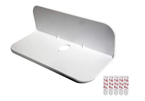 eLhook Stick-on Small Shelf White 9 Inch