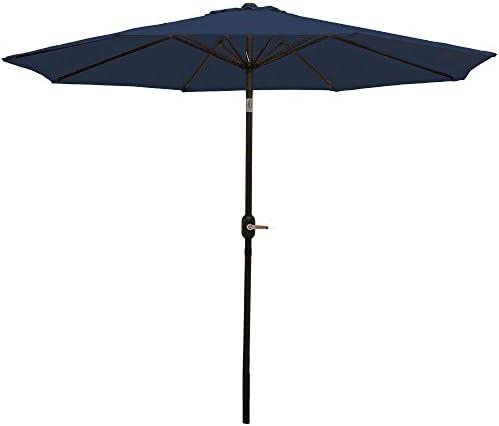 Sunnydaze Aluminum 9 Foot Patio Umbrella