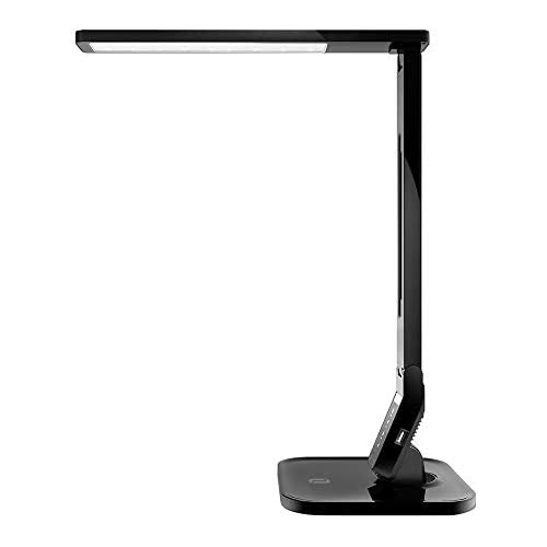 chollos oferta descuentos barato Lámpara Escritorio Usb LED TaoTronics Flexo de Escritorio 4 Modos 5 Niveles de Brillo USB 5v 1A para cargar Temporizador de 60min para Leer Estudiar Cuidado de ojos Color Negro