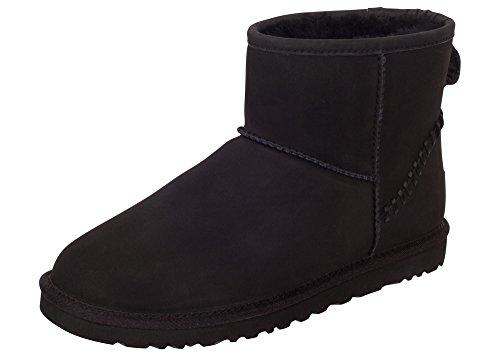 Decker UGG Mens Classic Mini Deco Boot Black Size 9