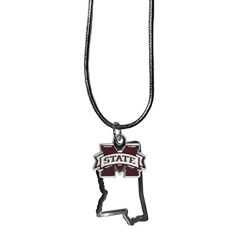 NCAA Mississippi Ole Miss Rebels State Charm Necklace, 16