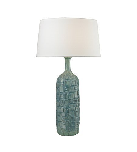 Table Lamps 1 Light with Blue and White Wash Glaze Ceramic Medium Base 35 inch 150 Watts