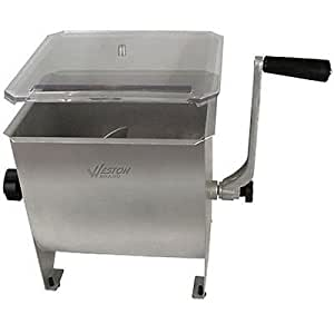 NEW Weston 20-pound Stainless Steel Manual Meat Mixer