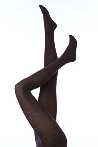 Falke Women's Soft Merino Wool-Cotton Sweater Tight, Dark Navy X-Large/48-50