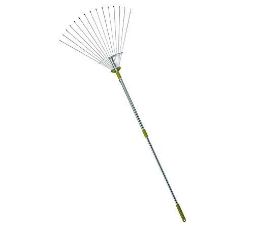 MLTOOLS® 64-inch Adjustable Garden Leaf Rake - Flat Tine Adjustable Steel Rake with Extendable Handle R8236 - Special Offer!