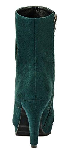 Laikakingdom Suede High Heels Fahsionable Shoes Design For Women(5.5 B(M) US, Green)