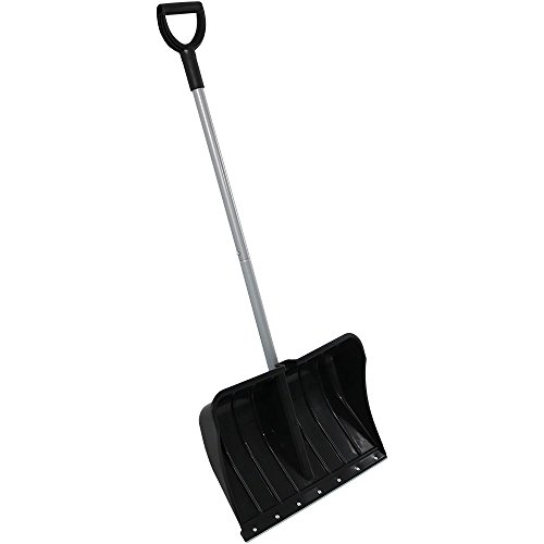 CASL Brands 22-Inch Snow Shovel with D-Grip Handle and Metal Wear (Metal Snow)
