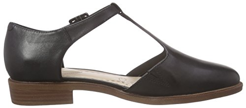Clarks Taylor Palm - Sandalias Mujer Negro (Black Leather)