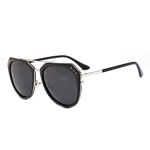 Crue Sunglasses - classic adult sunglasses retro ladies polarized sunglasses D8019,Black box mercury film